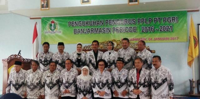 Pengukuhan Pengurus PPLP PT PGRI Banjarmasin Periode 2016-2021